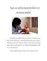 Tài liệu Nguy cơ nhiễm khuẩn hô hấp ở trẻ em trong mùa hè doc