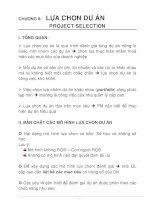 Tài liệu Tài liệu Quản lý dự án. Chương 6: Lựa chọn dự án pptx