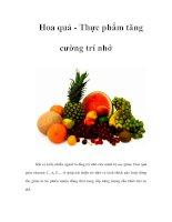 Tài liệu Hoa quả - Thực phẩm tăng cường trí nhớ pptx