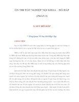 Tài liệu ÔN THI TỐT NGHIỆP NỘI KHOA – HÔ HẤP (PHẦN 2) docx