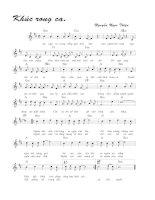 Tài liệu Bài hát khúc rong ca - Nguyễn Ngọc Thiện (lời bài hát có nốt) docx