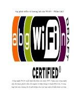Tài liệu Sự phát triển và tương lai của Wi-Fi – Phần 1&2 doc