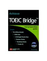 Tài liệu Acheive toeic bridge part 1 pdf