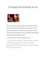 Tài liệu 16 bí quyết bảo vệ thị lực cho trẻ doc