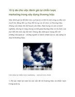 Tài liệu 10 lý do cho việc đánh giá lại chiến lược marketing trong xây dựng thương hiệu doc