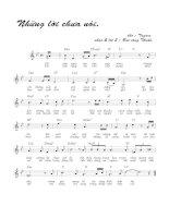 Tài liệu Bài hát những lời chưa nói - Bùi Công Thuấn (lời bài hát có nốt) ppt