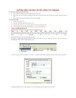 Tài liệu Hướng dẫn cài đặt và cấu hình fpt server pptx