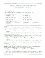 Tài liệu ĐÁP ÁN CHI TIẾT ĐỀ THI TUYỂN SINH ĐH – CĐ KHỐI A NĂM 2008 – MÃ ĐỀ 794 ppt