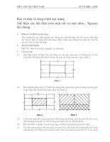 Tài liệu Bản vẽ nhà và công trình xây dựng thể hiện các tiết diện trên mặt cắt và mặt nhìn pdf