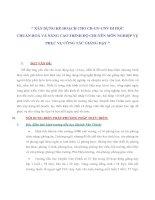 """Tài liệu """" XÂY DỰNG KẾ HOẠCH CHO CB-GV-CNV ĐI HỌC CHUẨN HOÁ VÀ NÂNG CAO TRÌNH ĐỘ CHUYÊN MÔN NGHIỆP VỤ PHỤC VỤ CÔNG TÁC GIẢNG DẠY """" ppt"""
