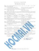 Tài liệu (Luyện thi cấp tốc Hóa) Trắc nghiệm và đáp án Dãy điện hóa ppt