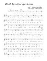Tài liệu Bài hát chút kỷ niệm dịu dàng - Nguyễn Ngọc Thiện (lời bài hát có nốt) pdf