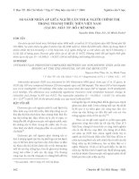 Tài liệu So sánh nhãn áp giữa người cận thị và người chính thị trong thanh thiếu niên Việt Nam (tại BV Mắt TPHCM) pdf