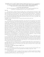 Tài liệu NGHIÊN CỨU TUYỂN CHỌN GIỐNG MÔN SÁP doc