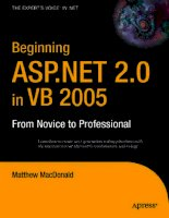 Tài liệu Beginning ASP.NET 2.0 in VB 2005 From Novice to Professional ppt