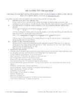 Tài liệu Đề cương ôn thi đại học môn tiếng Anh (Lý thuyết + đề thi) pptx