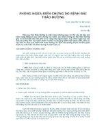 Tài liệu PHÒNG NGỪA BIẾN CHỨNG DO BỆNH ĐÁI THÁO ĐƯỜNG pptx