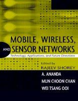Tài liệu Mobile Wireless and Sensor Networks P1 doc