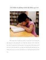 Tài liệu Cải thiện và phòng tránh tật khúc xạ ở trẻ docx
