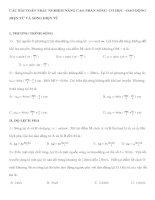 Tài liệu CÁC BÀI TOÁN TRẮC NGHIỆM NÂNG CAO PHẦN SÓNG CƠ HỌC –DAO ĐỘNG ĐIỆN TỪ pdf