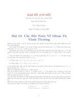 Tài liệu Các bài toán về Idean và vành thương pdf