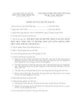 MÂU THÔNG TIN VỀ LUẬN VĂN THẠC SĨ - TÌM HIỂU MỘT SỐ PHƯƠNG PHÁP LUẬN XÂY DỰNGKIẾN TRÚC TỔNG THỂ VÀ PHƯƠNG PHÁP XÂY DỰNG KHUNG KIẾNTRÚC TỔNG THỂ FEA CHO HAWAII