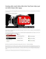 Hướng dẫn cách kiếm tiền trên YouTube hiệu quảvà kiếm được tiền ngay