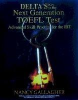 Tài liệu Delta''''s key to the next generation toefl test part 1 ppt