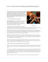 Tài liệu Peter F. Drucker bàn về tính hiệu quả khi lãnh đạo docx