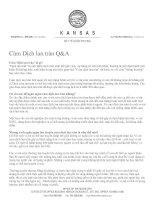 Tài liệu Cúm Dịch lan tràn Q&A ppt