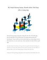 Tài liệu Kỹ thuật thương lượng: Doanh nhân Thái thực tiễn và sùng đạo doc