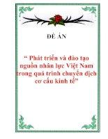 """Tài liệu Đề án """" Phát triển và đào tạo nguồn nhân lực Việt Nam trong quá trình chuyển dịch cơ cấu kinh tế"""" pptx"""