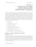 Tài liệu CHƯƠNG 2: HƯỚNG DẪN SỬ DỤNG EVIEWS TRONG PHÂN TÍCH DỮ LIỆU VÀ HỒI QUI pdf