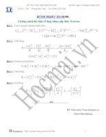 Tài liệu Chứng minh hệ thức tổ hợp bằng nhị thức Newton (Bài tập và hướng dẫn giải) pdf