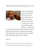 Tài liệu Dinh dưỡng và sự phát triển não bộ ở trẻ em doc