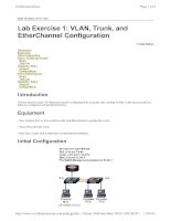 Tài liệu Ethernet 2 Lab Exercise 1 VLAN, Trunk, and EtherChannel Configuration docx