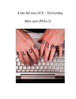 Tài liệu Làm thế nào để E - Marketing hiệu quả (Phần 2) doc