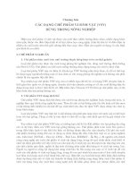 Tài liệu Chương 4: Các dạng chế phẩm vi sinh vật dùng trong nông nghiệp ppt
