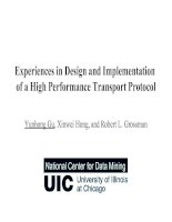 Tài liệu Experiences in Design and Implementation of a High Performance Transport Protocol doc