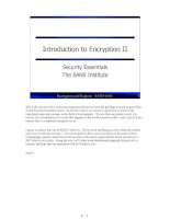 Tài liệu Introduction to Encryption II pdf