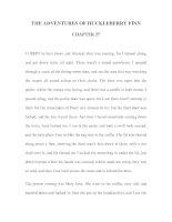 Tài liệu LUYỆN ĐỌC TIẾNG ANH QUA TÁC PHẨM VĂN HỌC-THE ADVENTURES OF HUCKLEBERRY FINN CHAPTER 27 docx