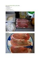 Làm cơm thịt heo chiên xù kiểu nhật