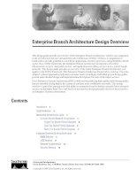 Tài liệu cisco migration_Enterprise Branch Architecture Design Overview ppt