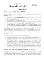 Tài liệu Tự học ASP.Net bằng tiếng việt ppt
