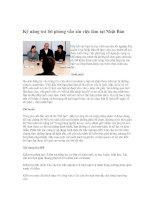 Tài liệu Kỹ năng trả lời phỏng vấn xin việc làm tại Nhật Bản pdf