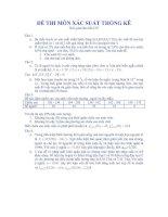 Tài liệu Đề thi xác suất thống kê 1 pptx