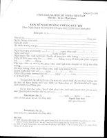Tài liệu Mẫu đơn đề nghị hưởng chế độ hưu trí pdf