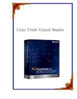 Tài liệu Giáo trình Visual Studio pdf