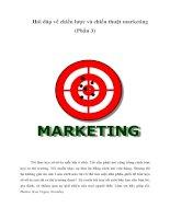 Tài liệu Hỏi đáp về chiến lược và chiến thuật marketing (Phần 3) pdf