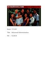 Tài liệu ActualTests Exam: 117-201 Title : Advanced Administration Ver : 12.29.03 docx